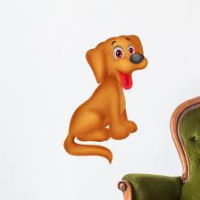 Cute Dog Cartoon Wall Decal Wallmonkeys Com