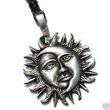 21e sun face moon silver pewter solar