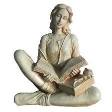 hi line gift ltd reading lady statue