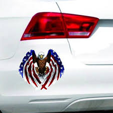 Car Decal Flying Hawk Auto Truck Hood Side Eagle Usa Flag Sticker Buy At A Low Prices On Joom E Commerce Platform