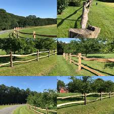 A Black Locust Connection Fence Posts Rails