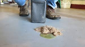 how to clean concrete garage floors