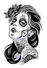 Buy Osmdecals Sugar Skull Sticker Version 1 Day Of The Dead Vinyl Wall Home Decor Car Window Bumper Decal Sticker In Cheap Price On Alibaba Com
