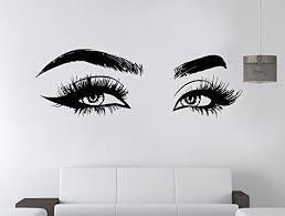Amazon Com Eyelashes Decal Eyelashes Eye Wall Decal Eyelashes Eye Wall Sticker Girls Eyes Eyebrows Wall Decor Beauty Salon Decal Make Up Wall Decor Kau365 Handmade