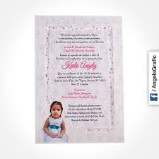 Tarjeta De Invitacion Para Bautizo Bz 46581 Angels Graphic