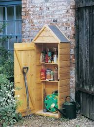 crocus slimline wooden tool shed by