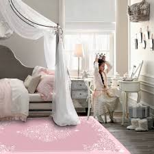 Modern Elegant Large Kids Room Carpet For Living Room Princess Pink Floral Pattern Area Rug Anti Slip Room Rug Baby Play Mat Carpet Aliexpress