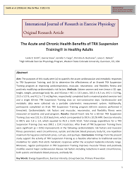 trx suspension in healthy s