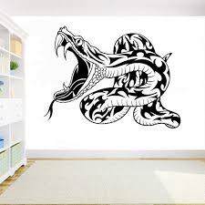 Snake Wall Sticker Animal Vinyl Decal Art Decoration Living Room Wall Art Tattoo Home Decor Waterproof Stickers Y187 Wall Stickers Aliexpress