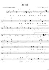 Sheet nhạc bài Bà tôi - Hợp Âm Việt