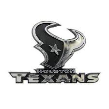 Houston Texans Logo 3d Chrome Auto Decal Sticker New Truck Or Car Hub City Sports
