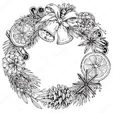 Vrolijke Kerstmis En Gelukkig Nieuwjaar Wenskaart Met Krans