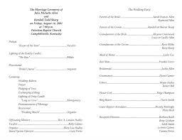 wedding program template 4 wedding