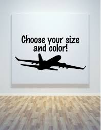 Airplane Wall Decal Vinyl Sticker Travel Wall Car Laptop Etsy Wall Stickers Travel Airplane Wall Airplanes Wall Decals