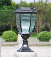 Outdoor Led Pillar Light Solar Fence Light Outdoor Post Top Lamp Wholesale Outdoor Lighting Products On Tradees Com