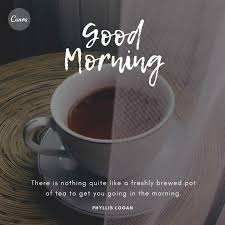 breakfast coffee on table good morning quotes templates by canva