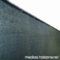 Aleko Plk0650dg Fence Privacy Screen Outdoor Backyard Fencing Windscreen Shade Cover Mesh Fabric With Grommets 6 X 50 Feet Dark Green B00tkp9glk