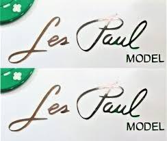 Les Paul Signature Model Gibson Vinyl Decal Sticker Lot X2 Chrome Oem Guitar Les Paul Vinyl Decal Stickers Vinyl Decals