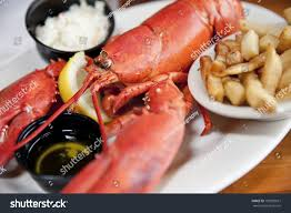Clawed Lobster French Fries Stock Image ...