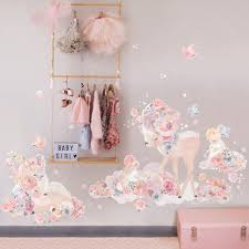 Wondrous Woodland Deer Bunny Wall Sticker Decal Wall Stickers Etsy
