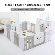 Baby Playpen Fence Indoor Palyground Park Kids Safe Guardrail Baby Game Crawling Fence Baby Play Yard 14 Pieces Set Lazada Ph