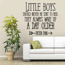 Peter Pan Quote Kids Room Wall Decal Little Boys Shoud Never Be Sent To Bed Boys Bedroom Decor Art Nursery Poster Ww 3 Wall Decals Kids Roomnursery Poster Aliexpress