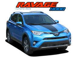 Ravage Hood Toyota Rav4 Stripes Toyota Rav4 Decals Rav4 Vinyl Graphics