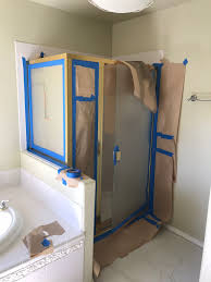 how to paint a br shower frame for