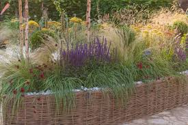 a lovely raised bed idea with grasses
