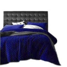 blue waves quilted 300tc indian cotton