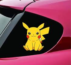 Amazon Com Pqzqmq Pikachu Car Window Decal Stickers Pikachu Vinyl Decal Sticker For Car Trucks Window Laptop Bumper 7 X 7 Inch Home Kitchen