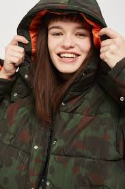 camouflage puffer jacket perboard