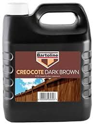 Creocote Creosote Substitute Dark Brown Timber Wood Fence Treatment 4ltr Amazon Co Uk Diy Tools