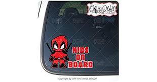 Trucks Little Deadpool Kids On Board Sign Vinyl Decal Sticker For Cars