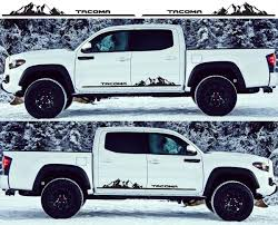 Product 2x Toyota Tacoma 2016 Side Skirt Vinyl Decals Graphics Rally Sticker Kit
