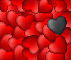 قلوب خلفية الفن أحمر أسود Hd عريضة عالية الوضوح ملء الشاشة