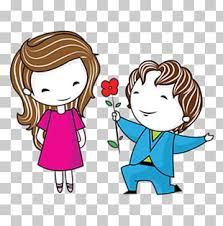 38 057 cartoon couple png cliparts for