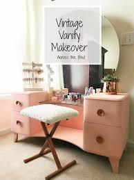 vintage vanity makeover across the blvd