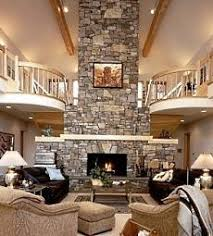 monumental stone fireplace images