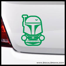 Baby Boba Fett Chibi Star Wars Inspired Fan Art Vinyl Wall Decal Decal Drama
