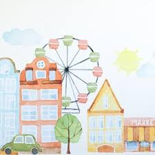 Parisienne Market Place Wall Decals Project Nursery