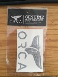 Orca Whale Tail Window Decal Assorted Colors Nordic Skater