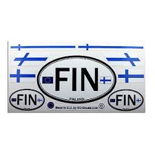 Set Of 9 Finland Flags Letters Fin Car Country Sign Laminated Decals Stickers Ebay