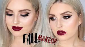 fall makeup tutorial deep berry