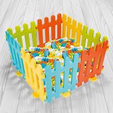 Vinsani 8 Colourful Interlocking Plastic Fence Play Panels For Kids 6 Months Ebay