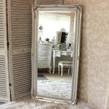 large silver ornate wall floor mirror