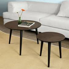 nesting tables round wooden side table
