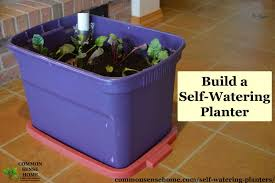 self watering planters diy demo how