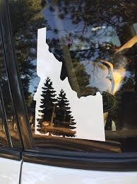 Idaho Decal Idaho Sticker Idaho Car Decal White Idaho Car Hacks Car Decals Car