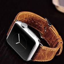 cowhide genuine leather watchband for